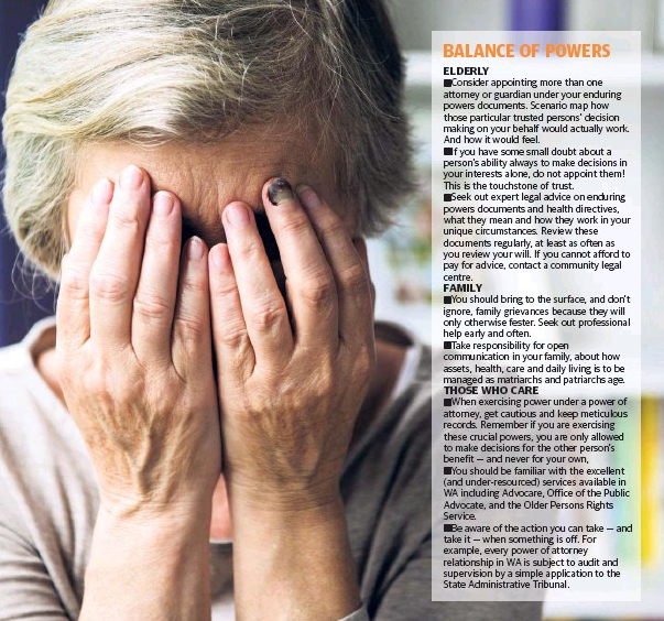 Elder abuse issue. Exert from The West Australian